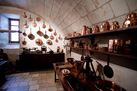 Kitchen in Château de Chenonceau